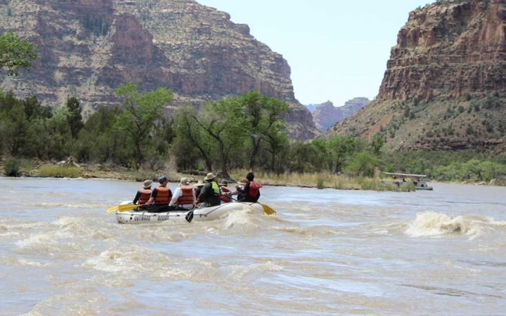 rafting on outdoor leadership course