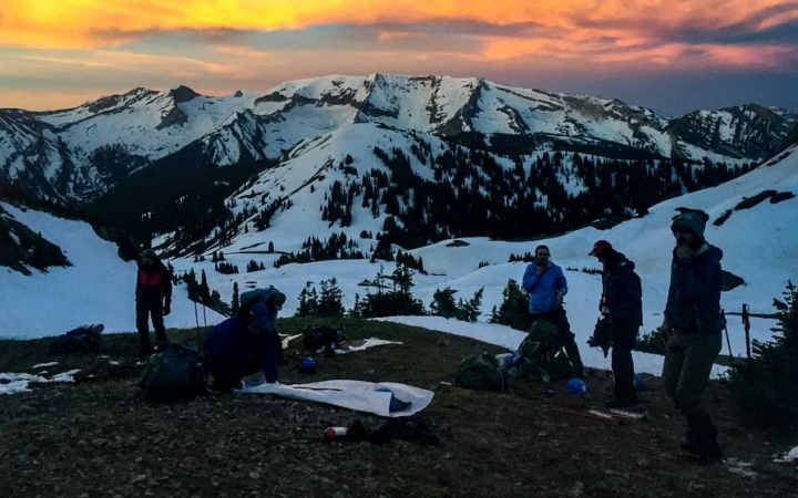 backpacking expedition for young adults