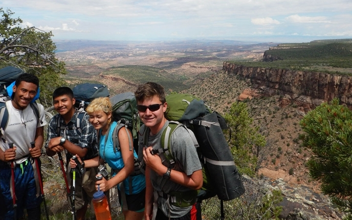 gap year backpacking trip in the southwest