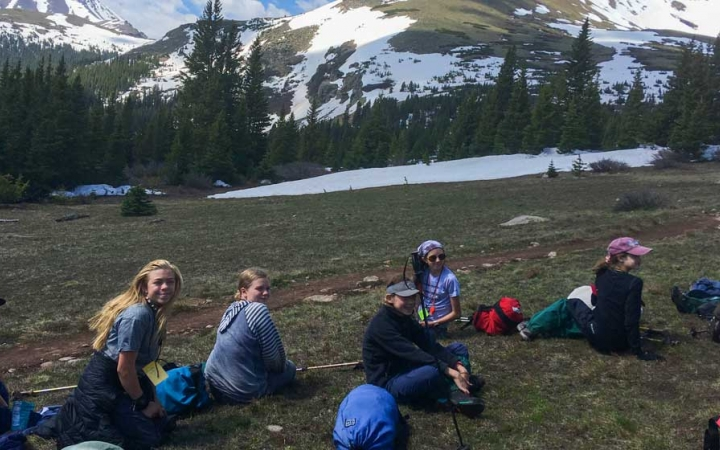 rocky mountain backpacking program for girls only