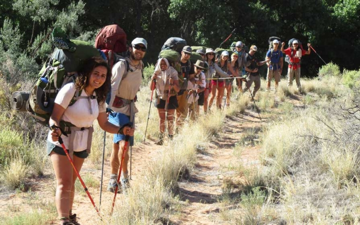 adults only backpacking trip in the southwest