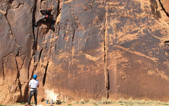 rock climbing instruction in the southwest