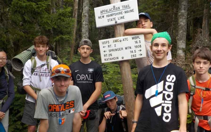 backpacking trip for grieving teens