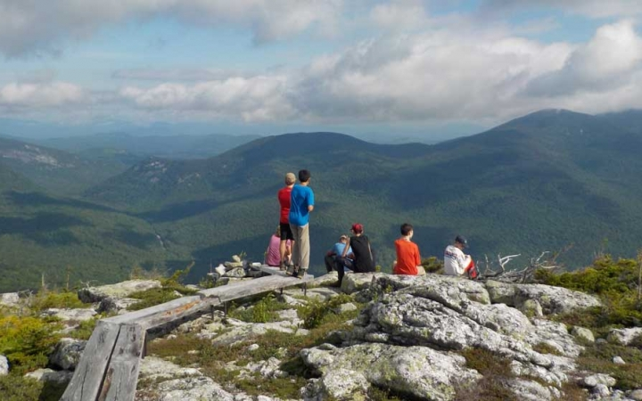 teens on summit in maine