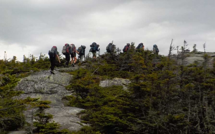 backpacking trip for teens in maine