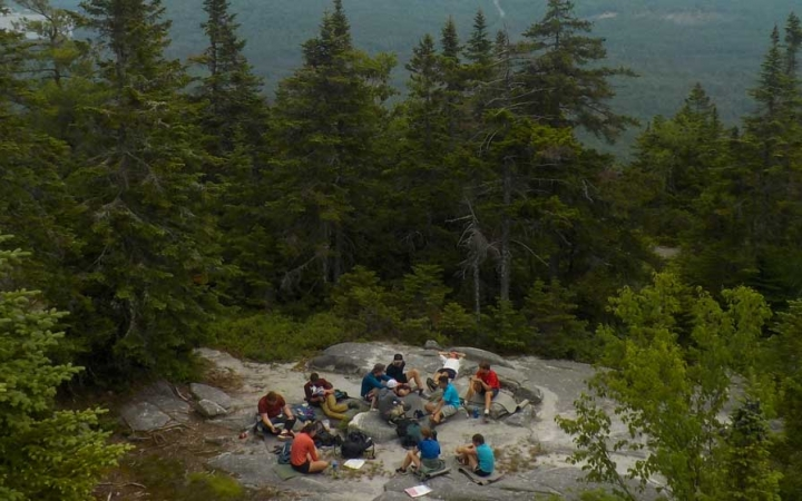 backpacking camp for teens in maine