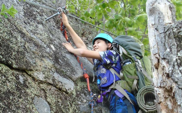 teens learn climbing skills in maine