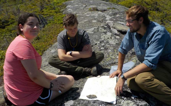 teens learn map skills on outdoor expedition