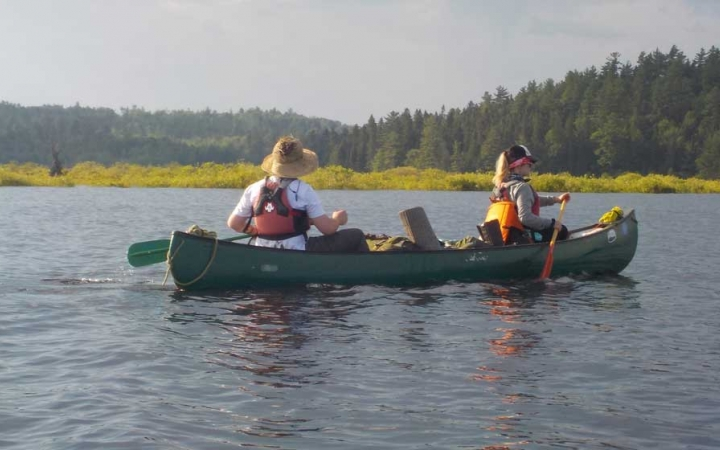 canoeing expedition for adults in maine