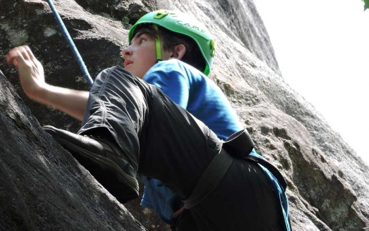 rock climbing course for high schoolers