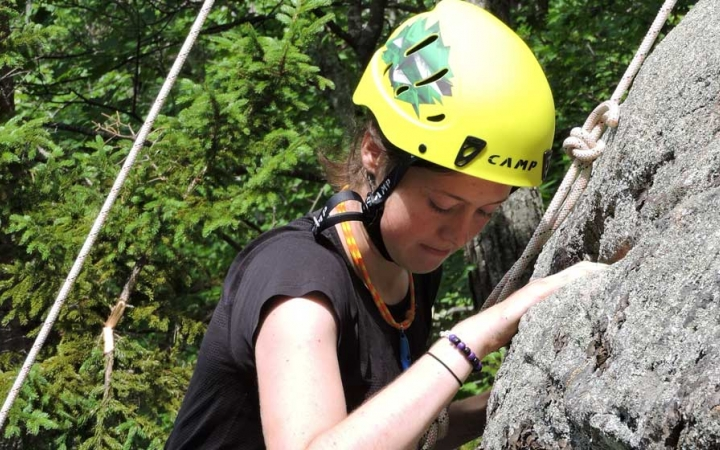 rock climbing expedition with outdoor leadership school in maine