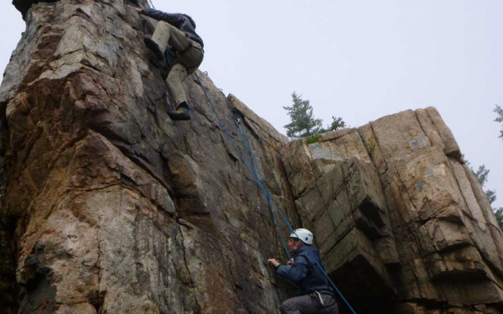 rock climbing camp for middle school boys