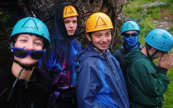 rock climbing course for teens