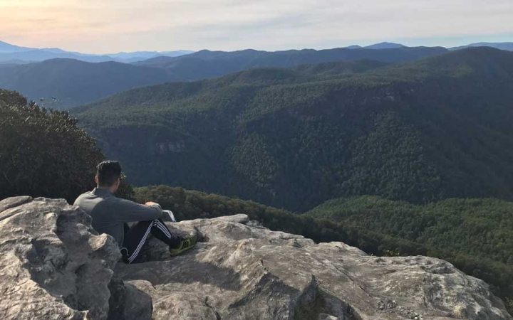 adults unplug on backpacking course in north carolina