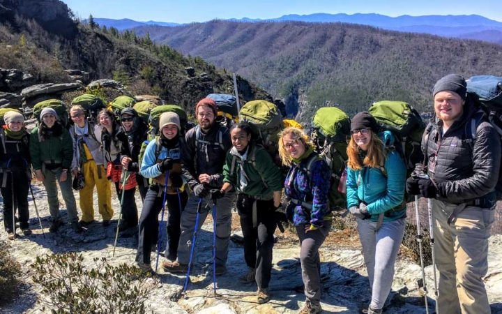 young adults outdoor leadership course