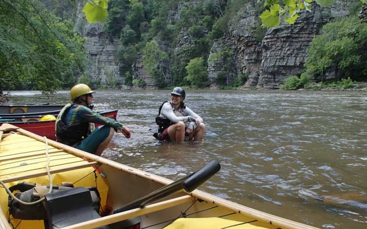 adult whitewater canoeing course