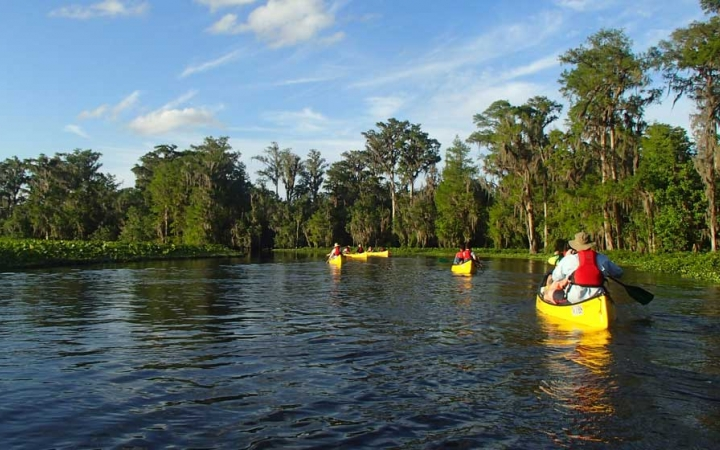 canoeing camp for teens in florida