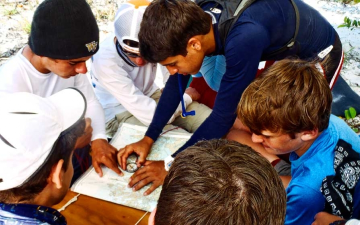 teens learn navigation skills in north carolina