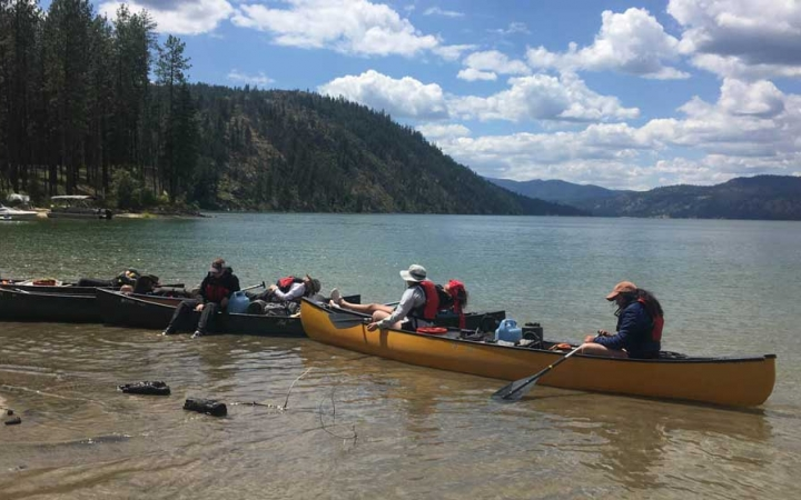 guided canoeing in Washington