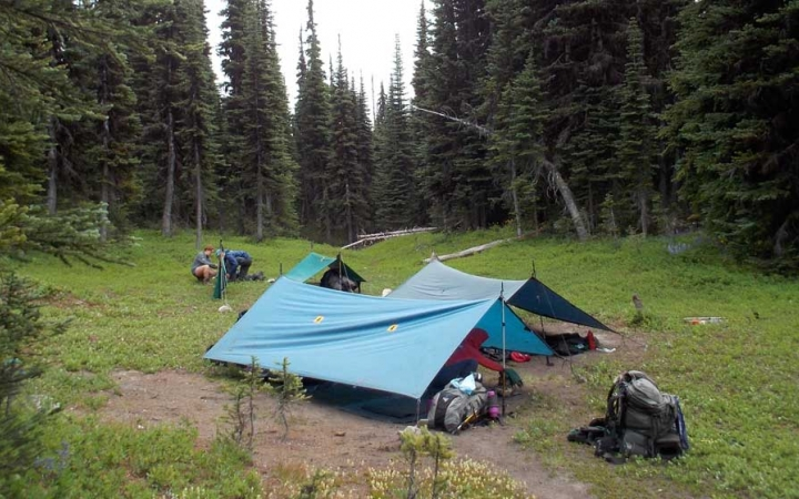 backpacking campsite