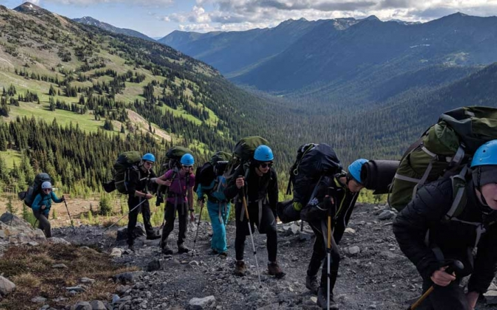 teens mountaineering course