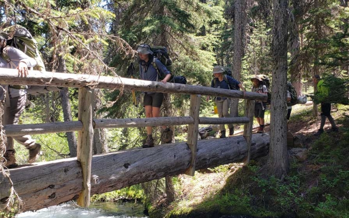 backpacking expedition for teens