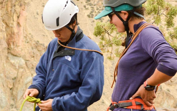 rock climbing instruction for adults