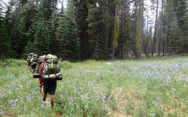 backpacking trip for teens