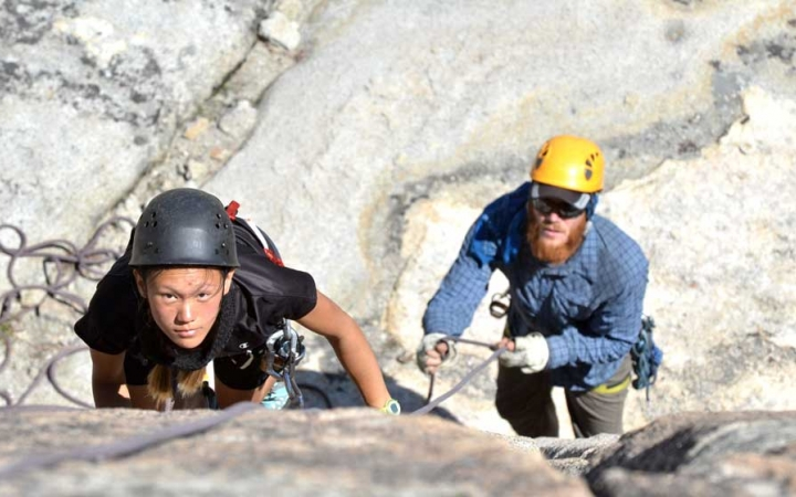 High sierra climbing for teens