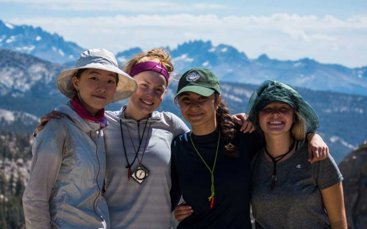 girls only backpacking trip high sierras