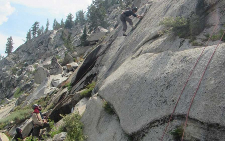 rock climbing outdoor leadership course for boys