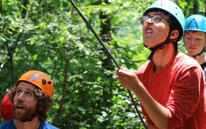 rock climbing camp for teens in philadelphia