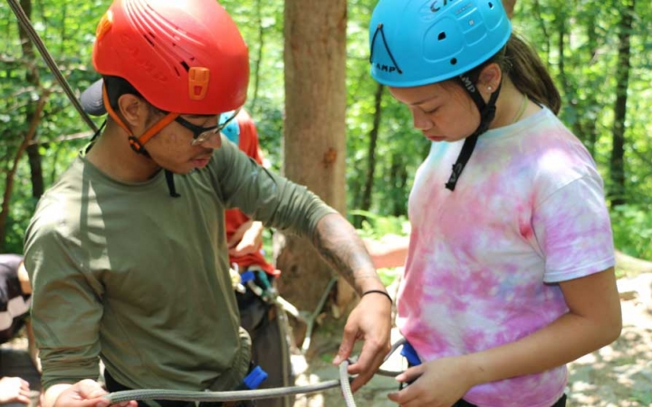 rock climbing and life skills for teens