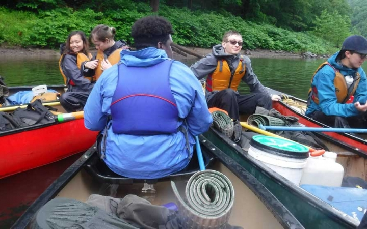 canoeing adventure for teens