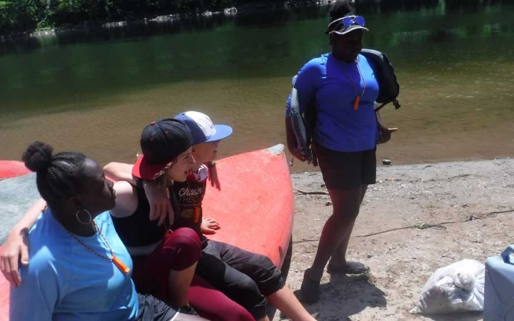 canoeing expedition for grieving teens