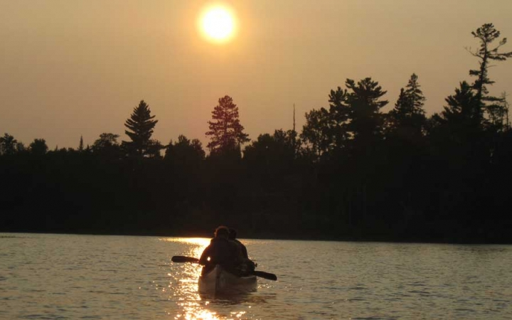 canoeing in the boundary waters for high school students