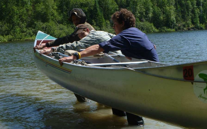 canoeing class for teens