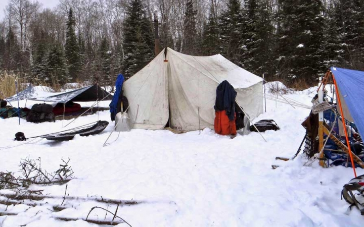 winter camping in the boundary waters