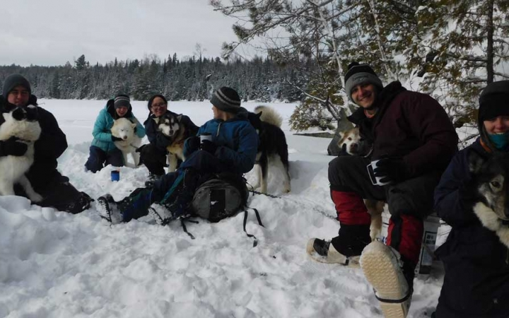 winter camping trip for adults in minnesota
