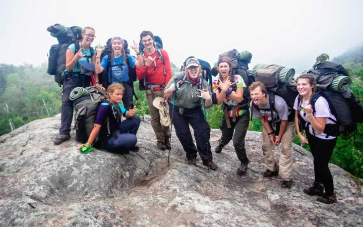 educational backpacking group