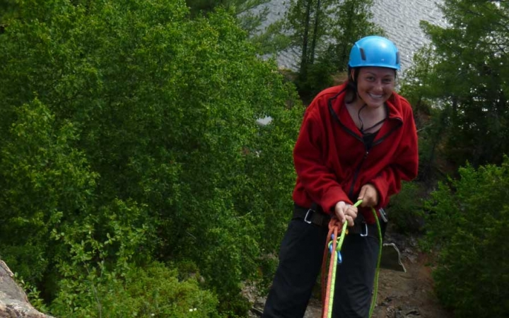 boundary waters rock climbing course for struggling girls