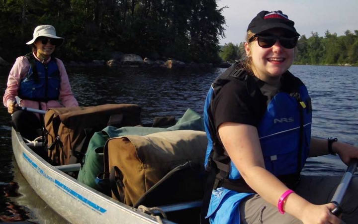 canoeing for teens in the boundary waters