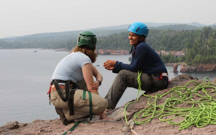 rock climbing lessons for adults