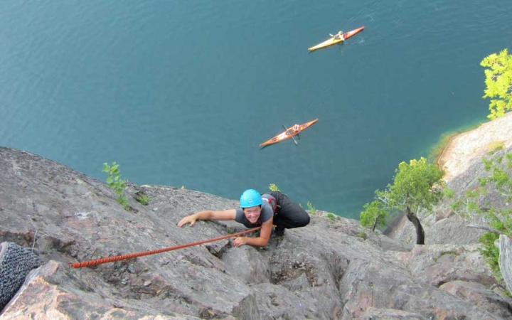 lake superior rock climbing class