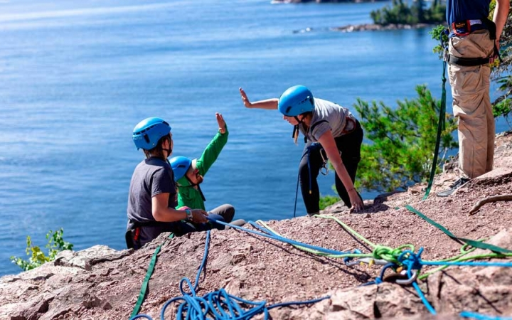lake superior rock climbing trip for adults