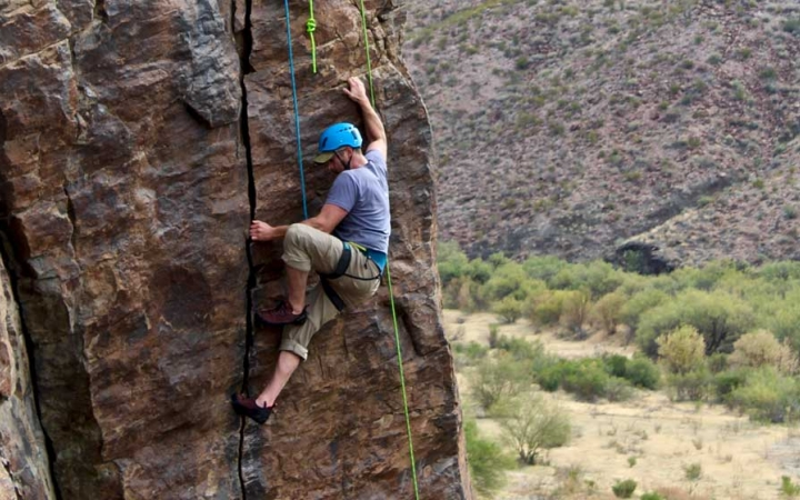 texas big bend rock climbing