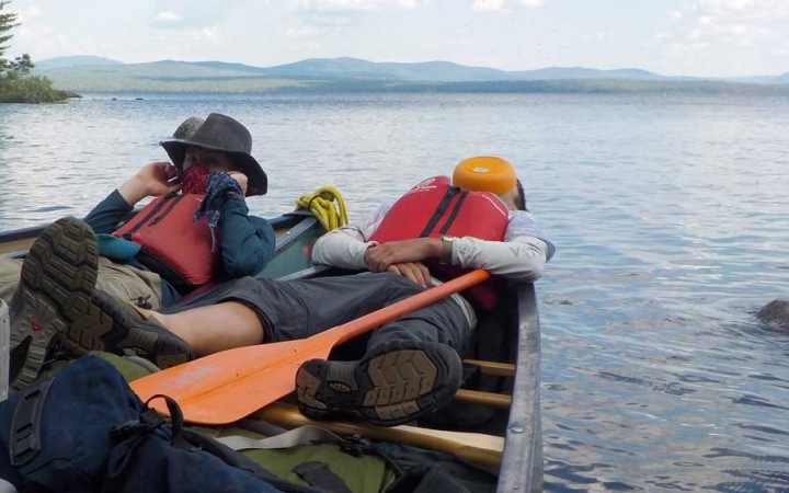 canoeing trip for adults in maine