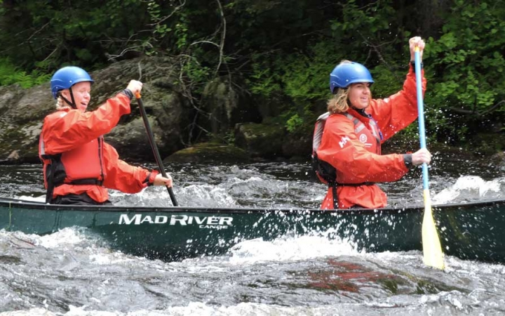 canoeing courses for adults in maine