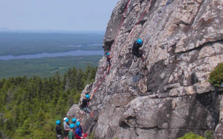 rock climbing course for adults in maine