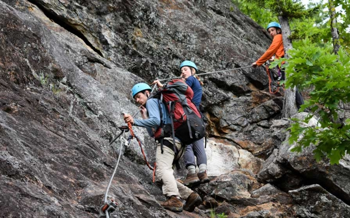 rock climbing outdoor leadership course for adults